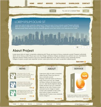 cartone strappato: modello di progettazione sito Web 1