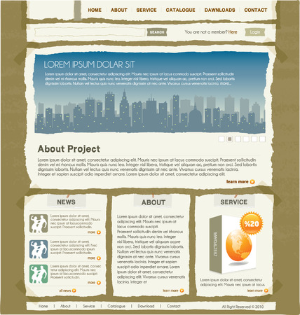 net bar: website design template 1