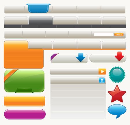 Colorful Website Design Elements Vector