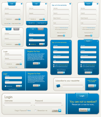 Blue Website Forms Stock Vector - 7295069