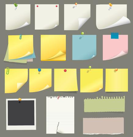 paper and post-it collection Фото со стока - 7295087