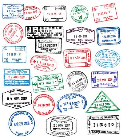 パスポートのスタンプ  イラスト・ベクター素材