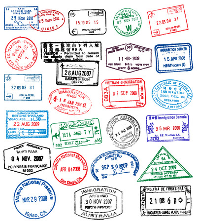 Passport Stamps Stock Vector - 7295094