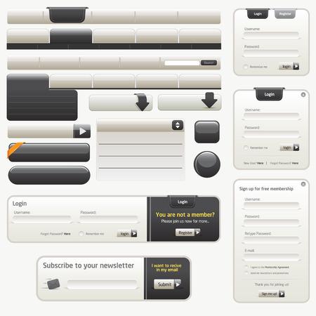 Zwarte Website Design Elements