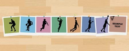 Basketball Sequence Snapshots  イラスト・ベクター素材