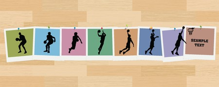 Basketball Sequence Snapshots Illustration