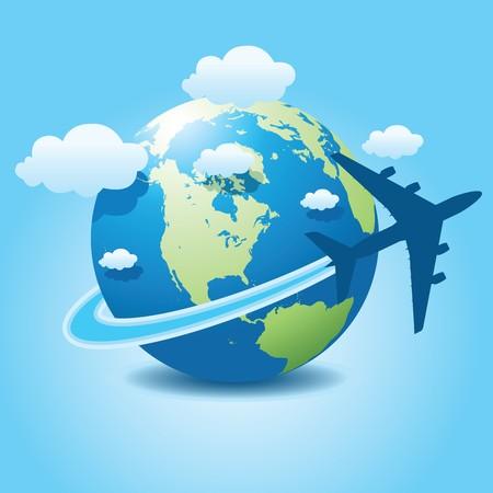 airplane travel  イラスト・ベクター素材
