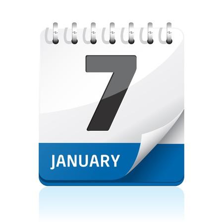 Calendar icon Stock Photo - 7698841