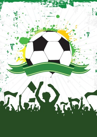 Soccer achtergrond 2 Stock Illustratie