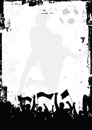 voetbal silhouet:  Soccer achtergrond 1