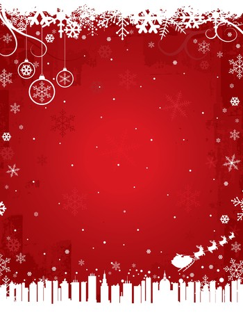 Red Winter Background Stock Vector - 7868296