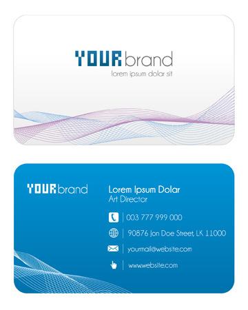 Business Card   Blue Illustration