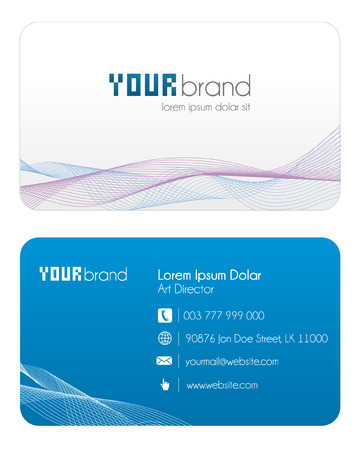 bright card: Business Card | Blue Illustration