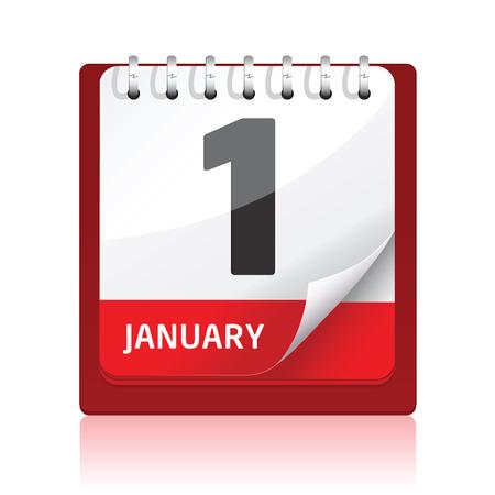 Calendar Icon   Red Stock Vector - 8118434