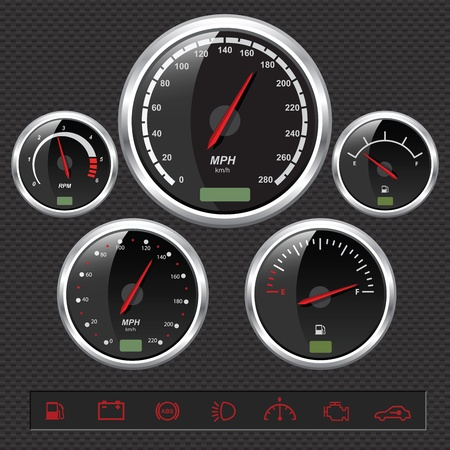 Sport Car Dials Stock Vector - 8487152
