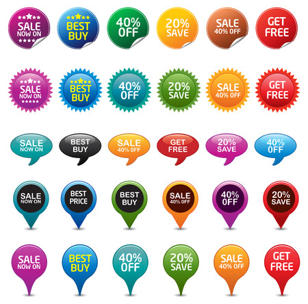 Selling Badges Stock Vector - 8487150