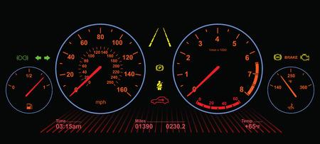 Auto Dasboard | Nacht scherm