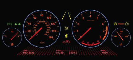 kilometer: Car Dasboard | Night Screen