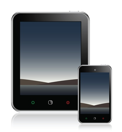 Tablet Computer & mobiele telefoon