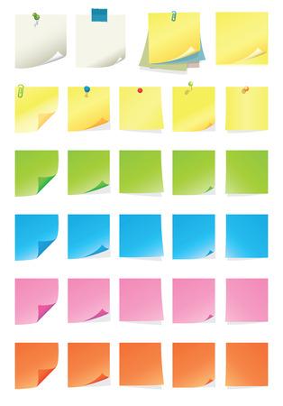 Post-it Collection  イラスト・ベクター素材