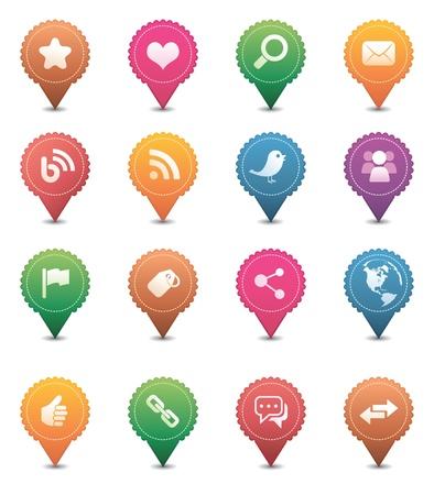 Icônes de médias sociaux Banque d'images - 9065451