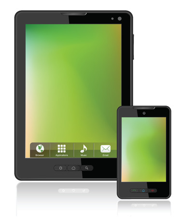mobile phone screen: Tablet Computer & Mobile Phone