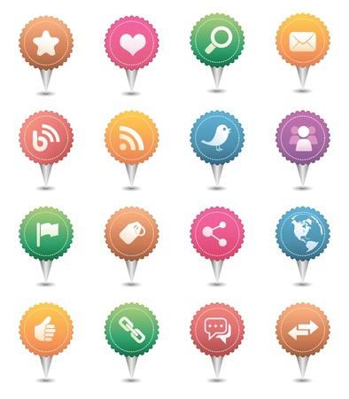 Social Media Icons Stock Vector - 9295620