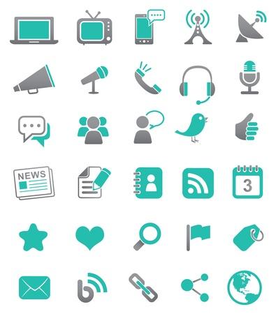 Media and Communication Icons  イラスト・ベクター素材