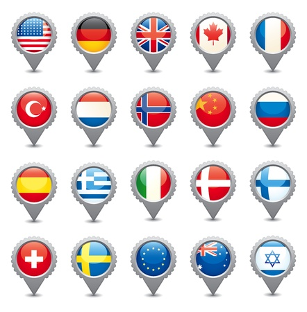 Nationale vlaggen Vector Illustratie
