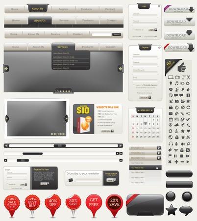 Web Design Elements Stock Vector - 9521406