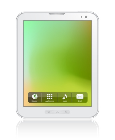 White Tablet Computer Stock Vector - 9720137