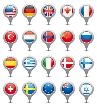 National Flags Ilustracja