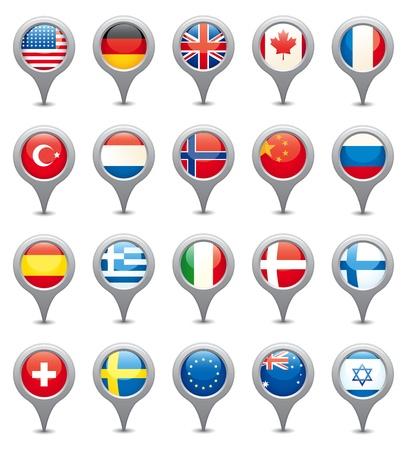 the netherlands: Nationale vlaggen Stock Illustratie