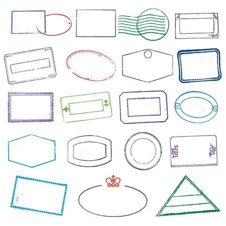 stempel reisepass: Stempel Illustration