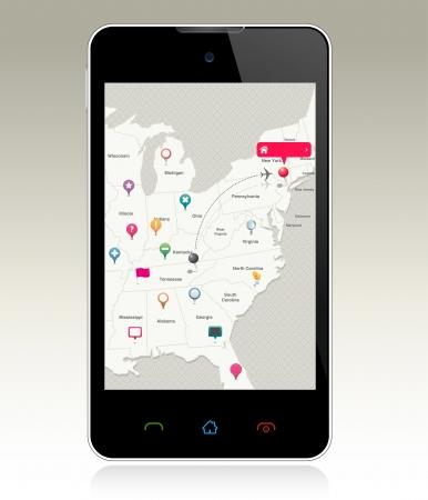 Navigation Pins on Smart Phone