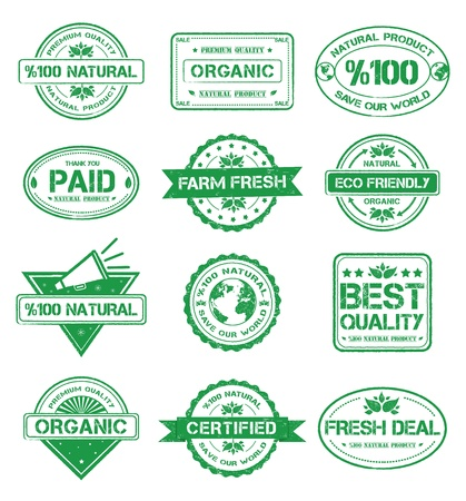 Organic Badges Stock Vector - 16188969