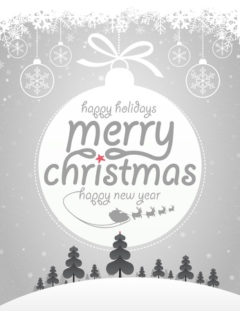 christmas holiday background: Merry Christmas