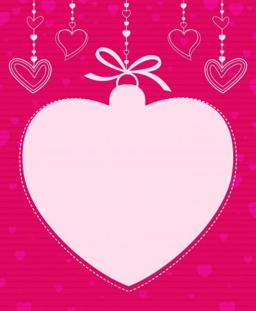 Hanging Heart Shape Stock Vector - 17231093