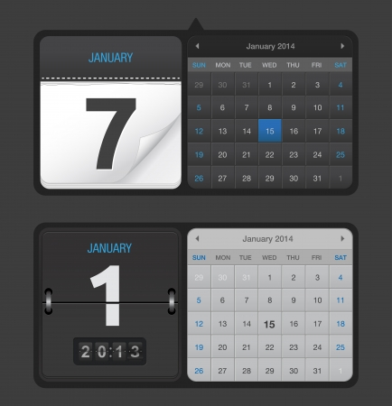 count down:  Black Calendars