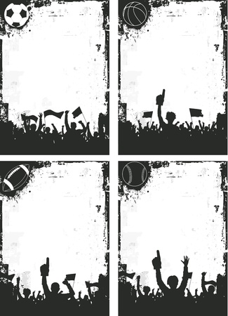 soccer stadium crowd: Sport Backgrounds Illustration