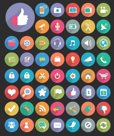 nota: Long Shadow Circle Icons
