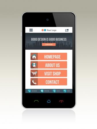 Web Design for Smart phone