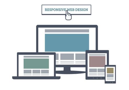 Responsive Web Design Vettoriali