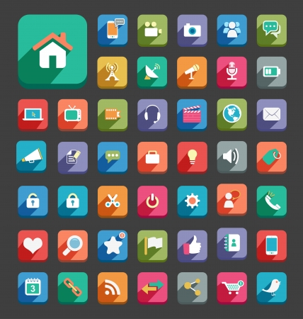 nota: Flat Icons Illustration