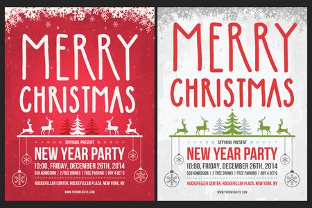 christmas flyer background: Christmas Poster Illustration