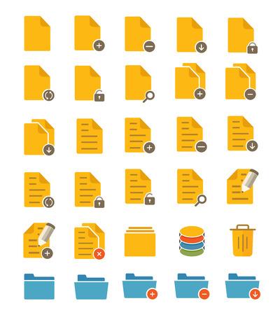 File and Folder Icons Иллюстрация