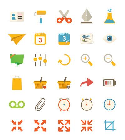 Miscellaneous Flat Icons Иллюстрация