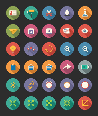 miscellaneous: Miscellaneous Flat Icons Illustration