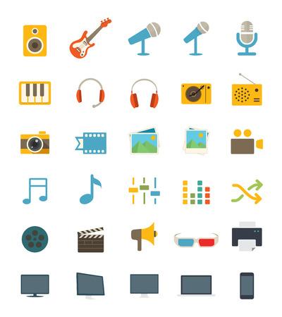 Media Icons Иллюстрация
