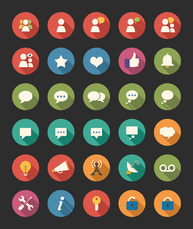 communication icons: Media And Communication Icons